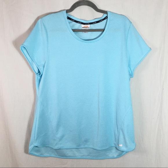 Avia Tops - Avia Women's XXL Workout Shirt Powder Blue